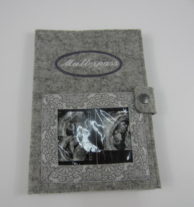 Mutterpasshülle grau/Bildtasche