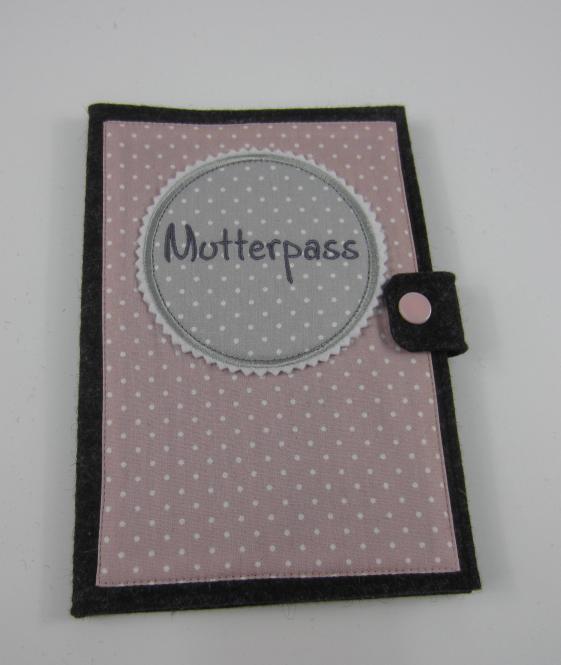 Mutterpasshülle antrazith/rosa
