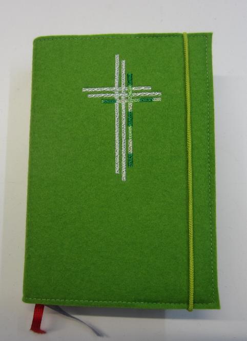 Gotteslobhülle grün, dreifach Kreuz